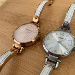🔥 2 for 1 Fossil bangle watches